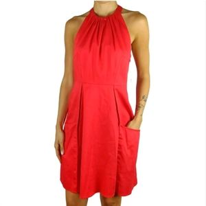 NWT Jessica Simpson coral halter pocket dress